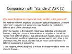 comparison with standard asr 13