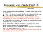 comparison with standard asr 21