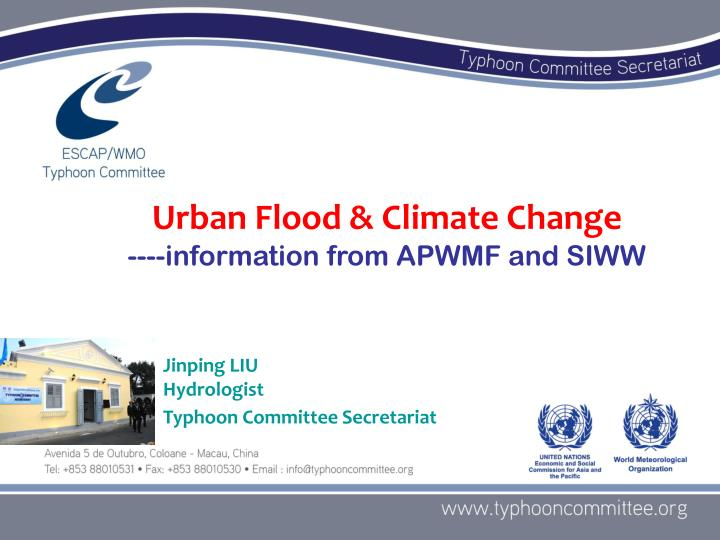 Urban Flood & Climate Change