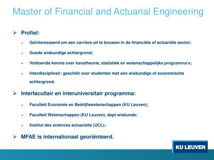 Master of Financial and Actuarial Engineering