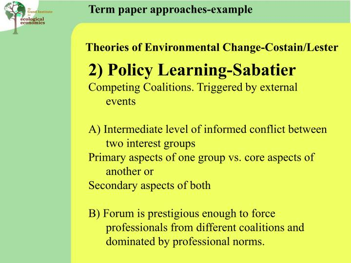Term paper approaches-example