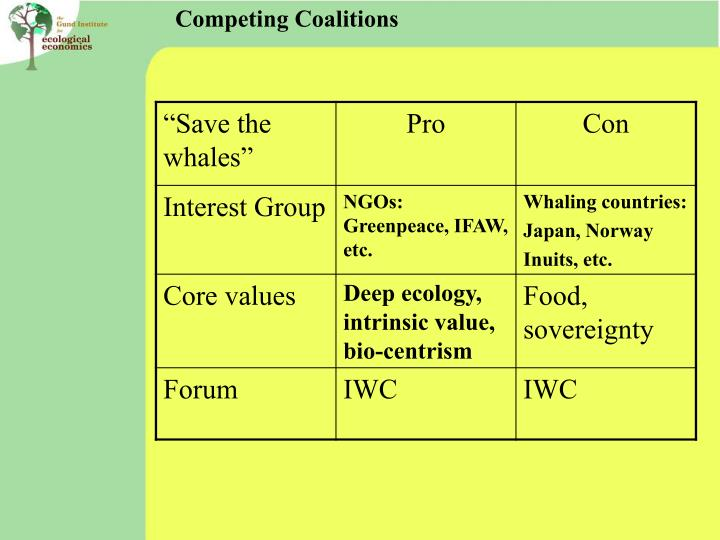 Competing Coalitions
