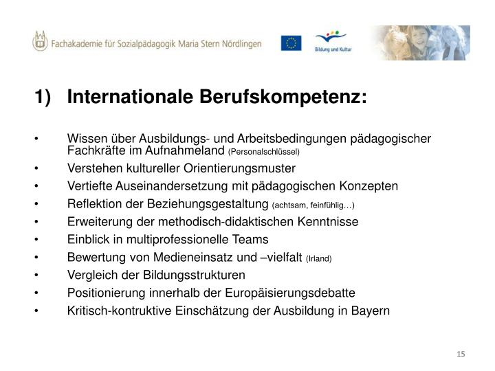Internationale Berufskompetenz: