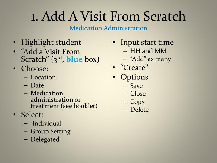1. Add A Visit From Scratch
