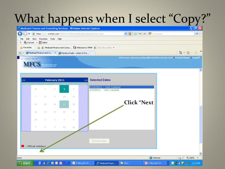 "What happens when I select ""Copy?"""