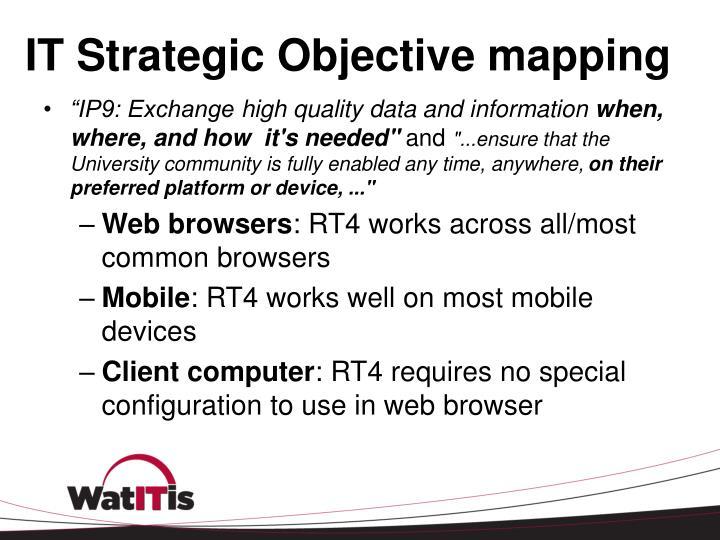 IT Strategic Objective