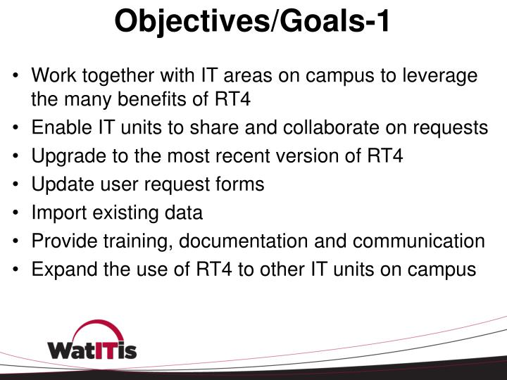 Objectives/Goals-1