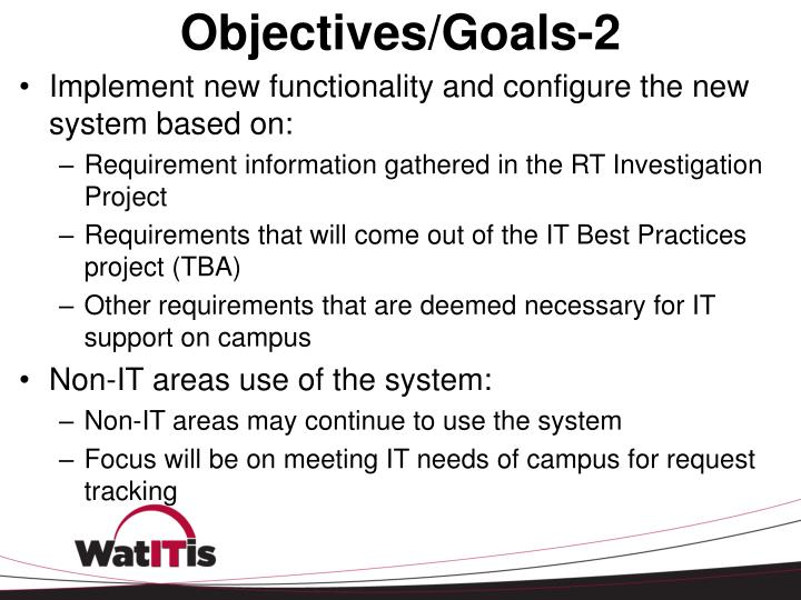 Objectives/Goals-2
