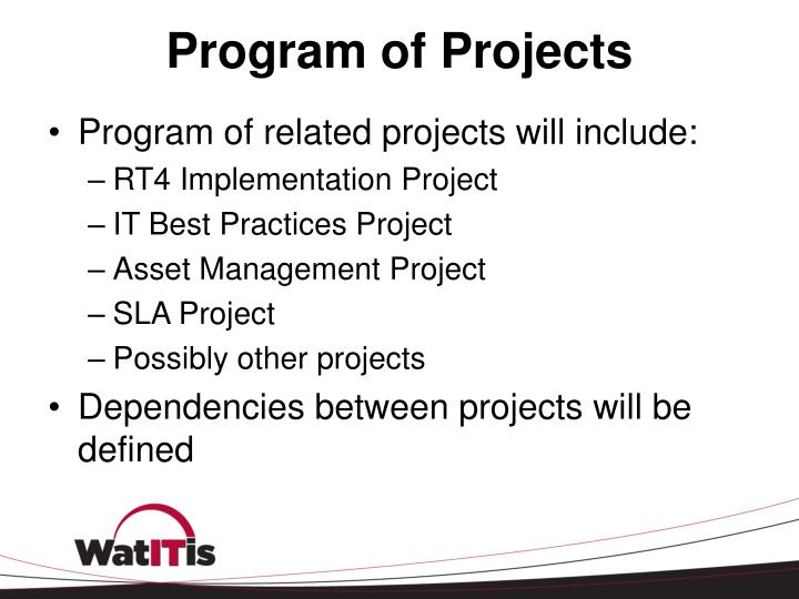 Program of Projects