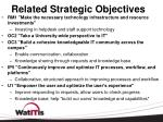 related strategic objectives