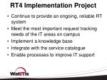 rt4 implementation project