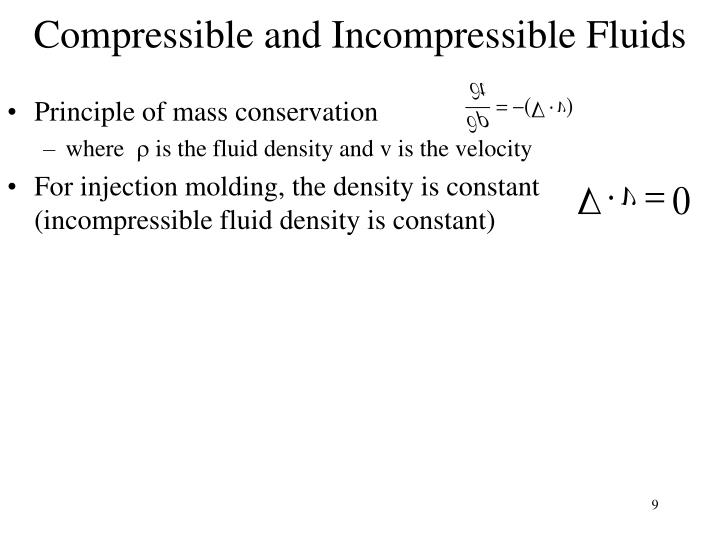 Compressible and Incompressible Fluids
