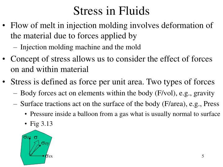 Stress in Fluids