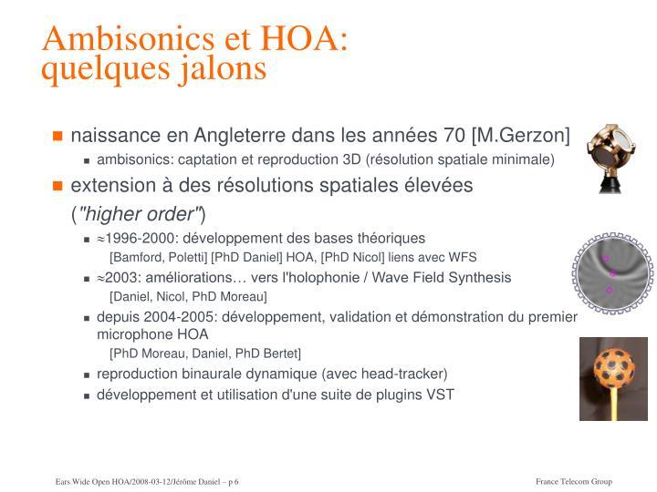 Ambisonics et HOA: