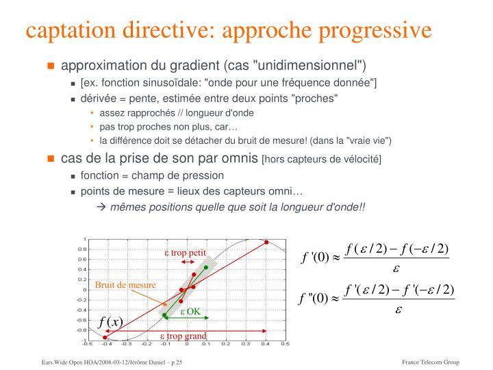 captation directive: approche progressive
