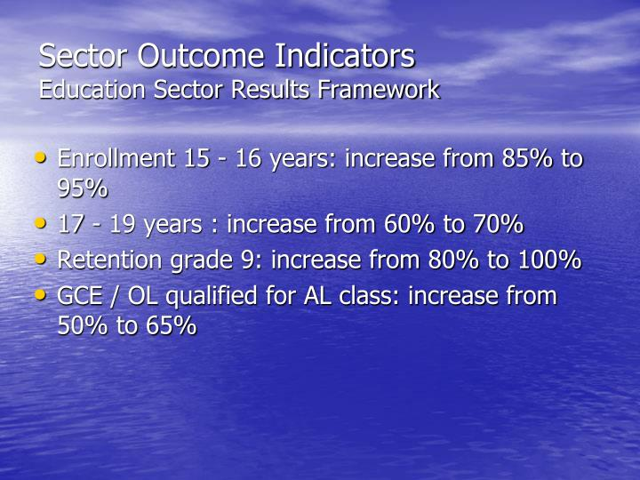 Sector Outcome Indicators