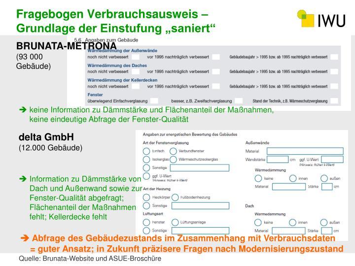 Fragebogen Verbrauchsausweis –