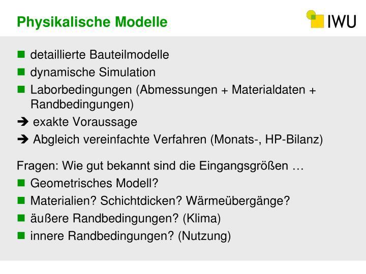 Physikalische Modelle
