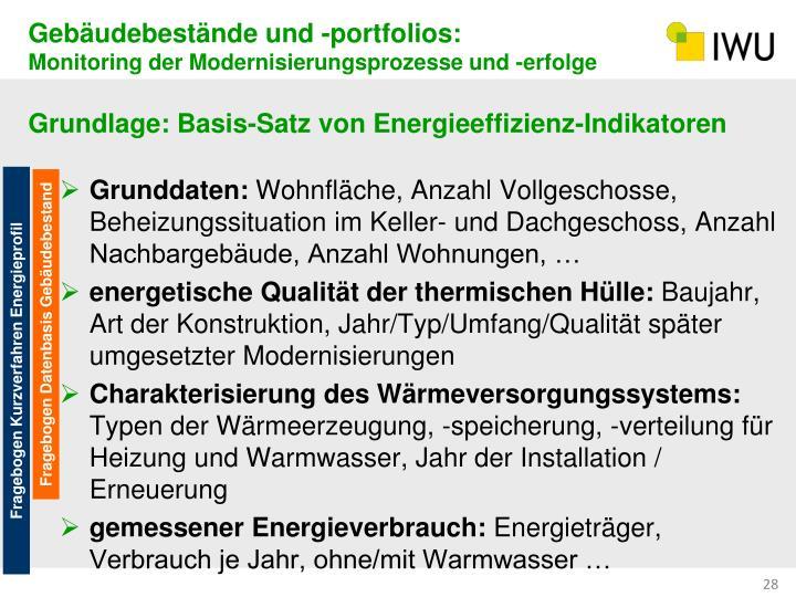 Gebäudebestände und -portfolios: