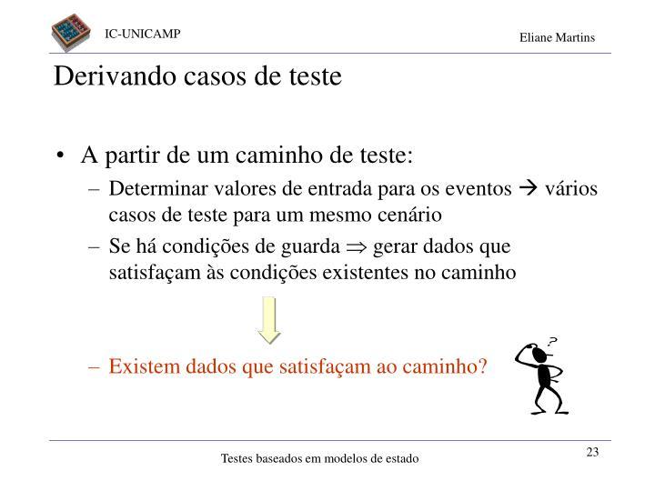 Derivando casos de teste