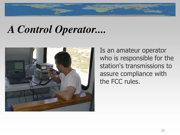 A Control Operator....