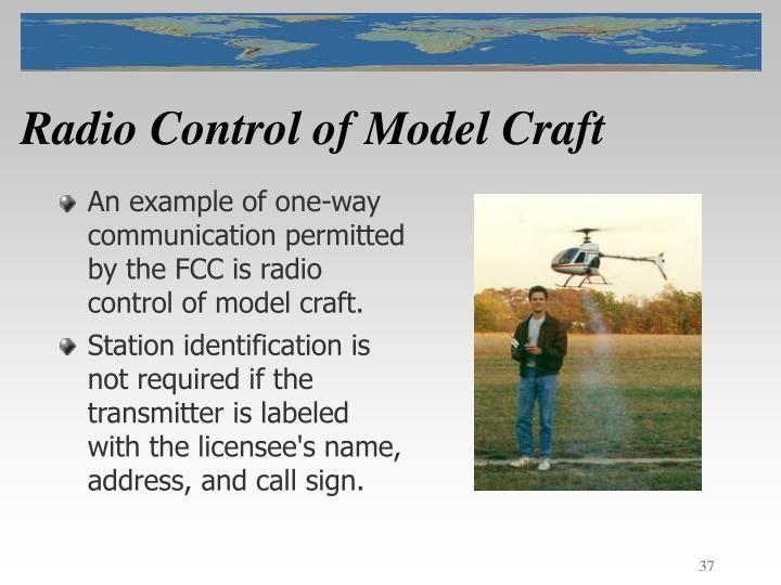 Radio Control of Model Craft