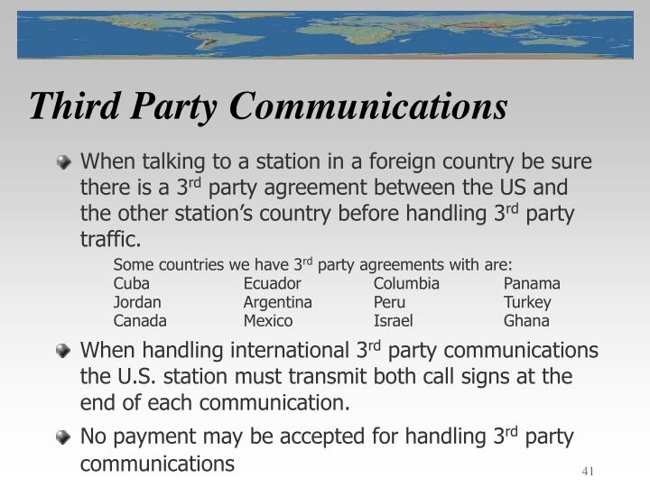 Third Party Communications