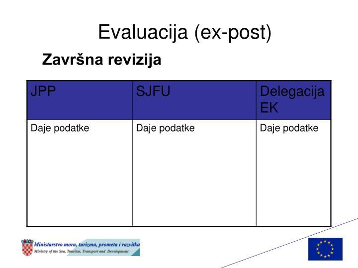 Evaluacija (ex-post)