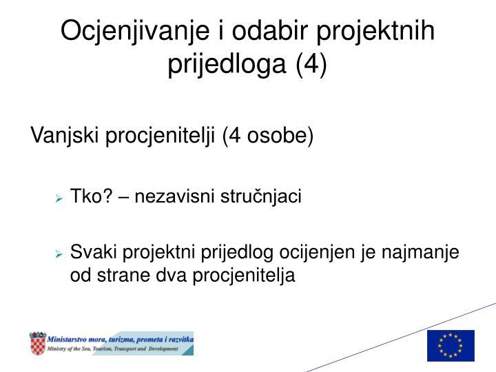 Ocjenjivanje i odabir projektnih prijedloga (4)