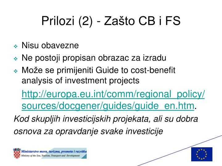 Prilozi (2) - Zašto CB i FS