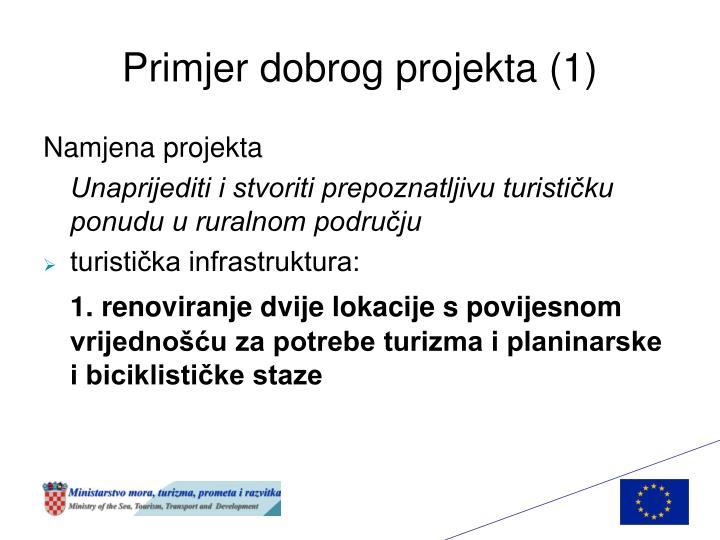Primjer dobrog projekta (1)