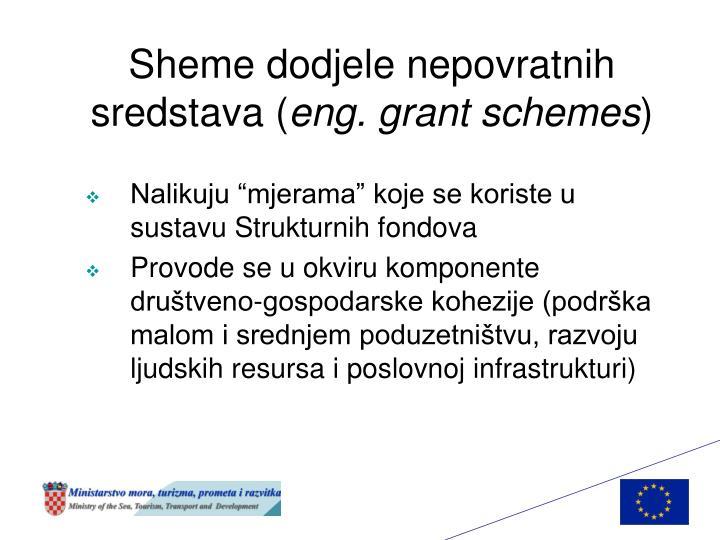 Sheme dodjele nepovratnih sredstava (