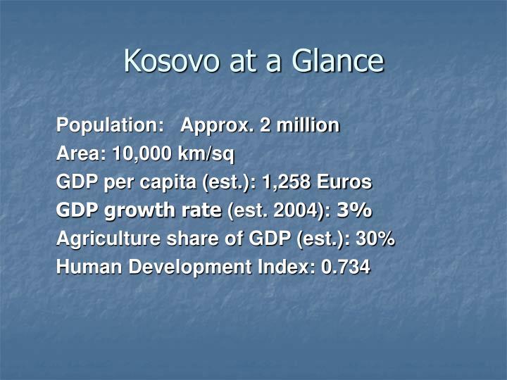Kosovo at a Glance