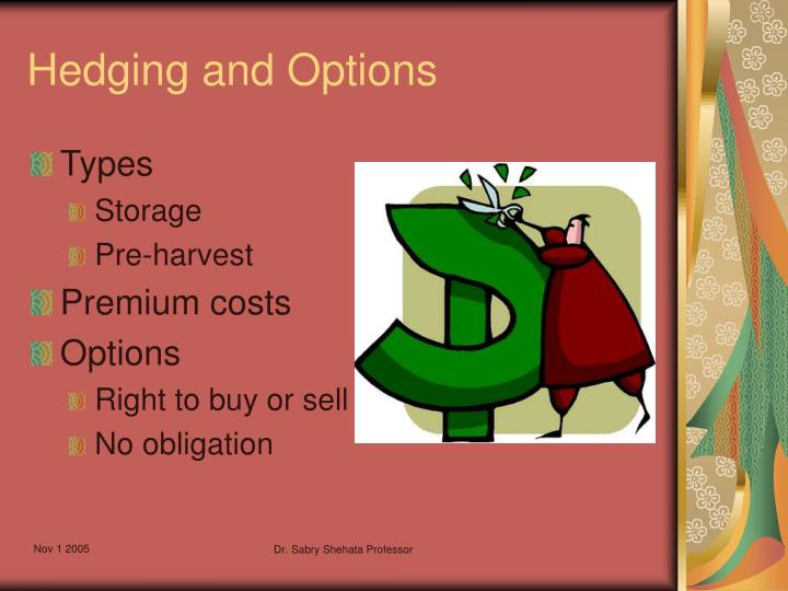 Hedging and Options
