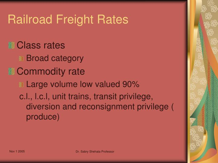 Railroad Freight Rates