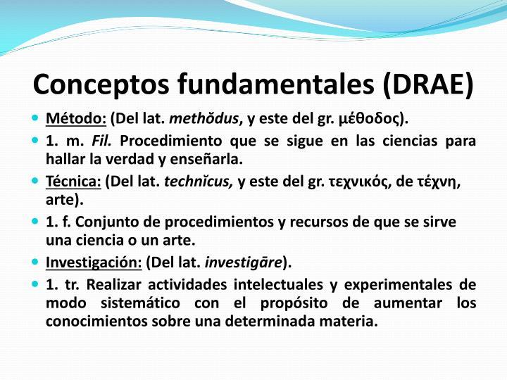 Conceptos fundamentales (DRAE)