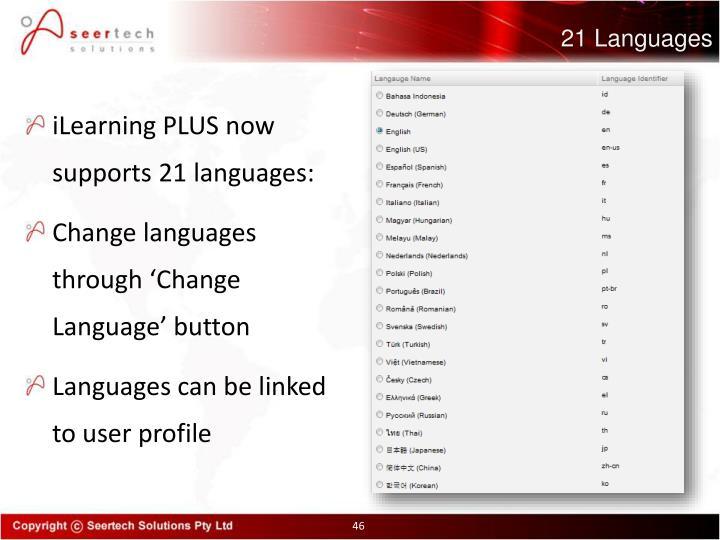 21 Languages