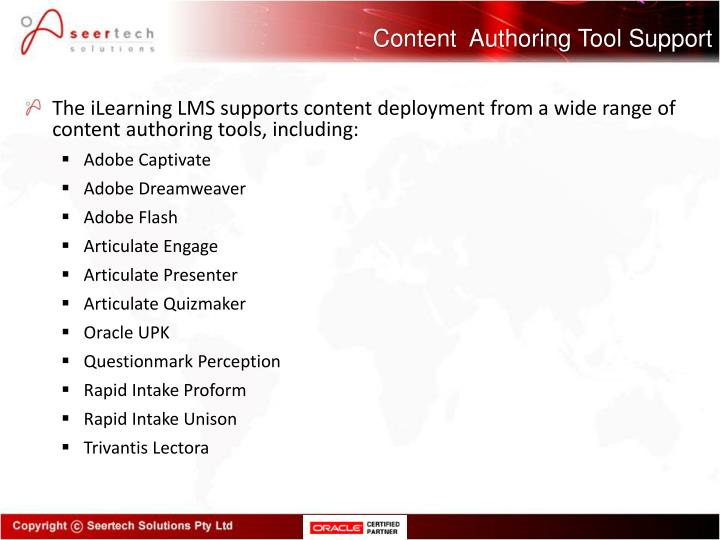 Content  Authoring Tool Support