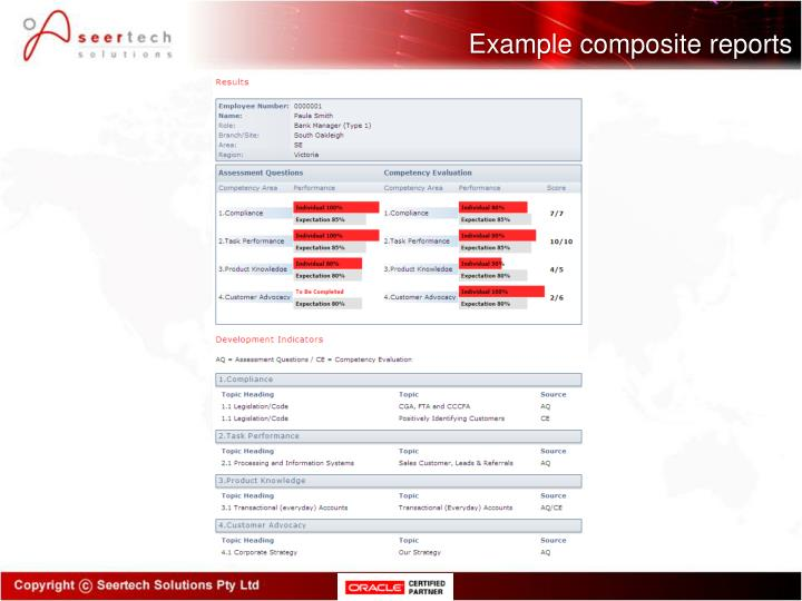 Example composite reports