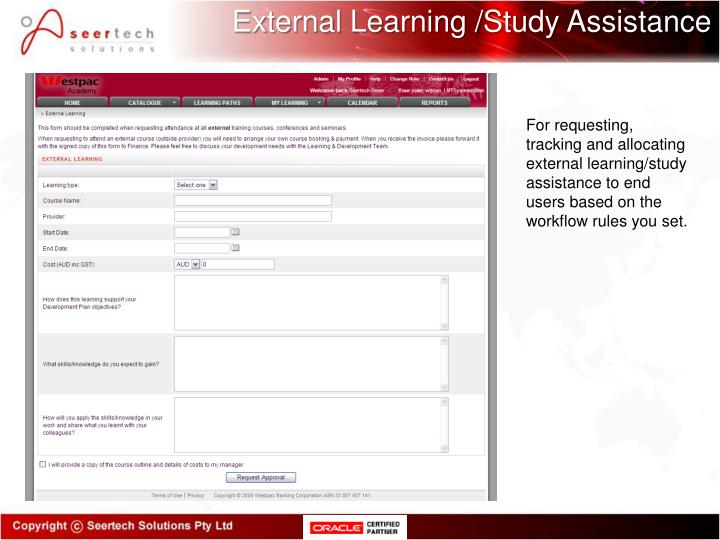 External Learning /Study Assistance