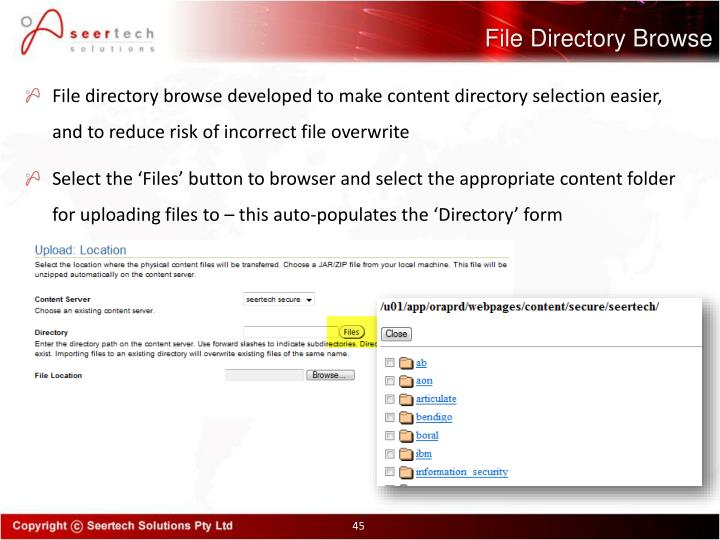 File Directory Browse