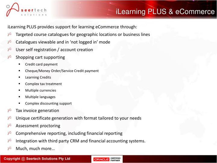 iLearning PLUS & eCommerce