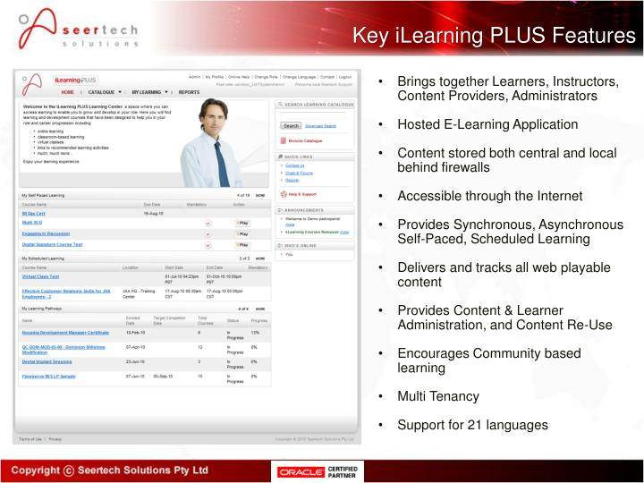 Key iLearning PLUS Features