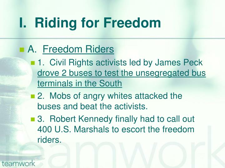 I.  Riding for Freedom