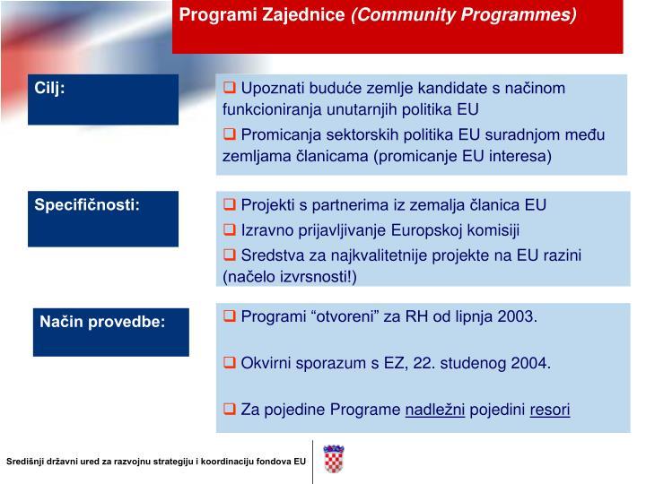 Programi Zajednice