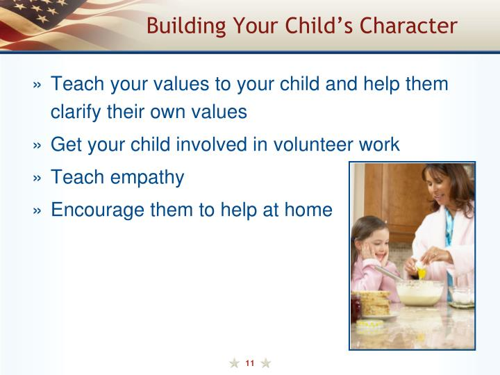Building Your Child's Character