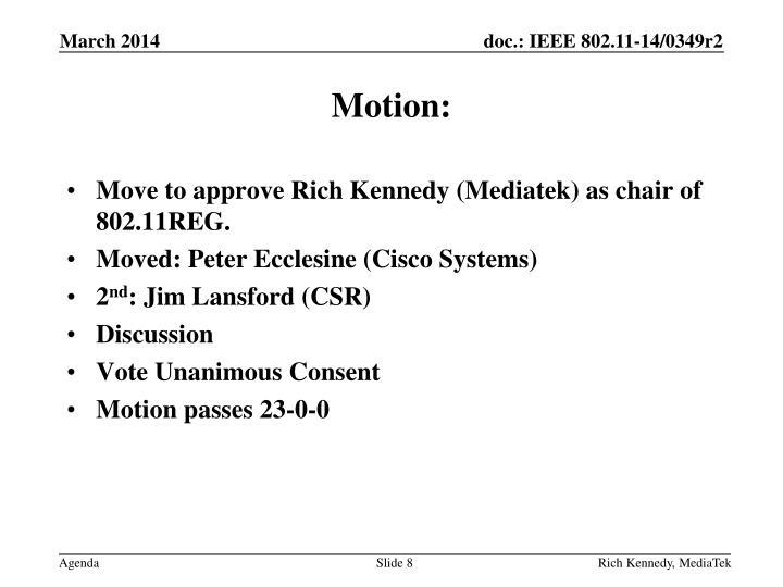 Motion: