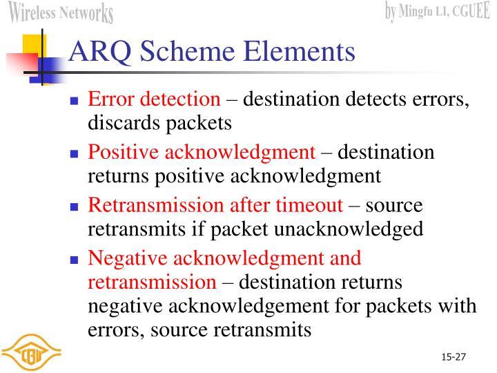 ARQ Scheme Elements