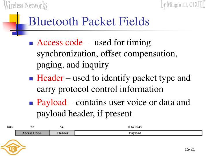 Bluetooth Packet Fields