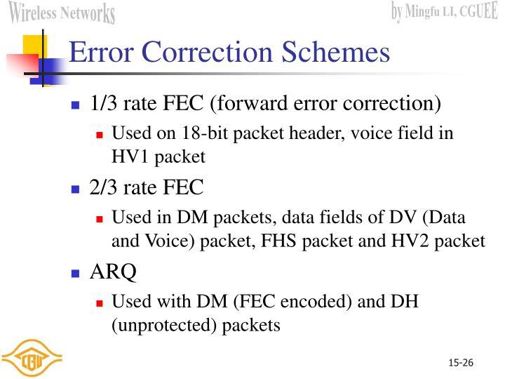 Error Correction Schemes